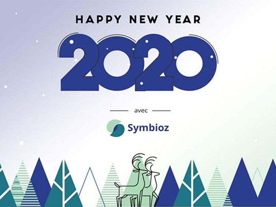 sapin et rennes avec logo Symbioz